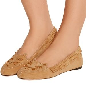Charlotte Olympia Kitty Cat Tan Moccasin 37.5